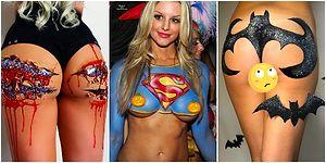 Cadılar Bayramı Yaklaşırken Bu Yılın Moda Konseptinin Vücut Makyajı Olacağını Gösteren Örnekler