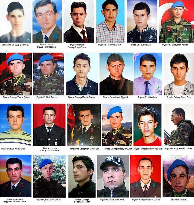 2011 - Ekim 2011 Çukurca saldırısı gerçekleşti. 8 ayrı yerde eşzamanlı olarak PKK tarafından düzenlenen saldırı sonucu 24 asker şehit oldu.