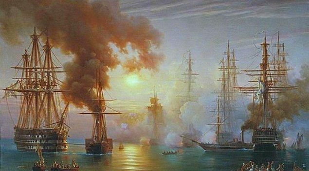1827 - Navarin Baskını. İngiliz, Fransız, Rus birleşik filosu, Yunanistan açıklarında Navarin'de Osmanlı donanmasını tahrip etti.