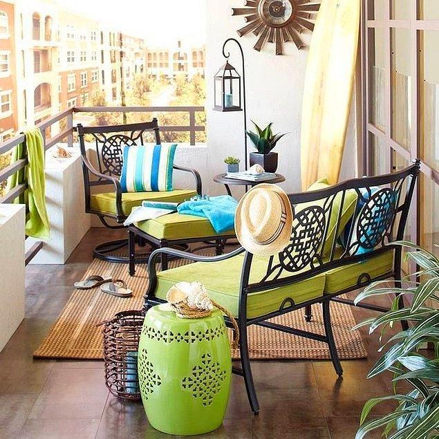 7. Balkonunuzu renklendirin.