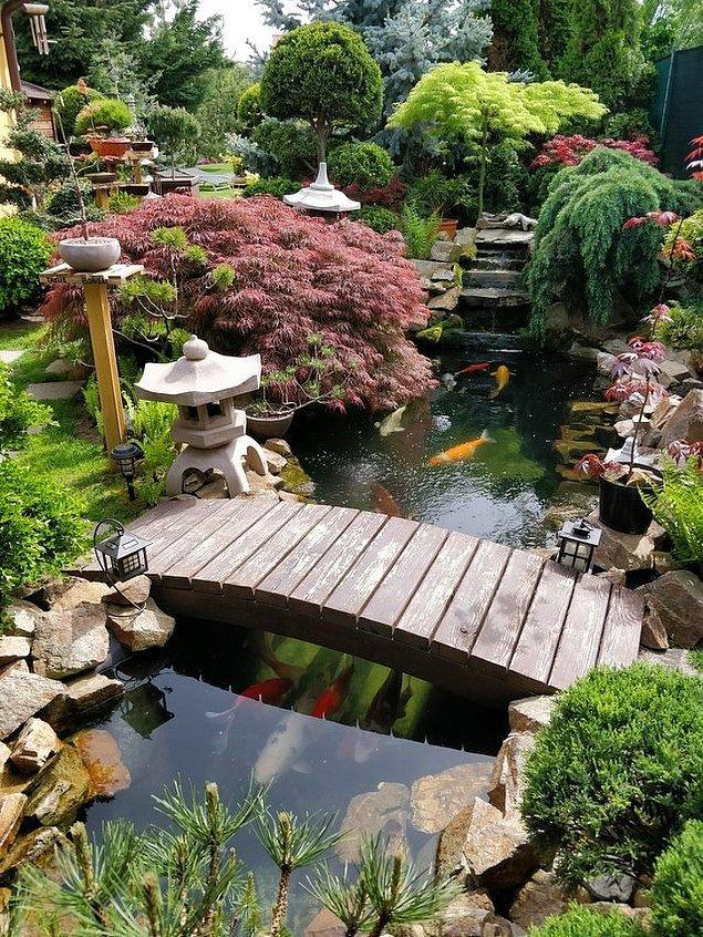 8. Japon bahçeleri tam bir sanat eseri.