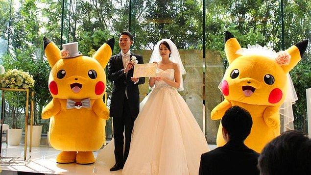 15. Son olarak Japonya'da Pokémon düğünü organize edebilirsiniz.