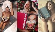Rihanna'nın Yeniden Gündeme Getirdiği ve Akıma Dönüşmesi Beklenen Seksi Kitap Okuma Pozu