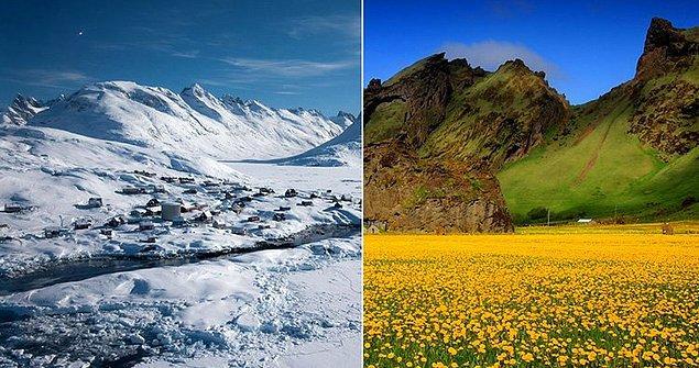1. Vikingler, Grönland ve İzlanda'nın isimlerini bilerek değiştirmediler.