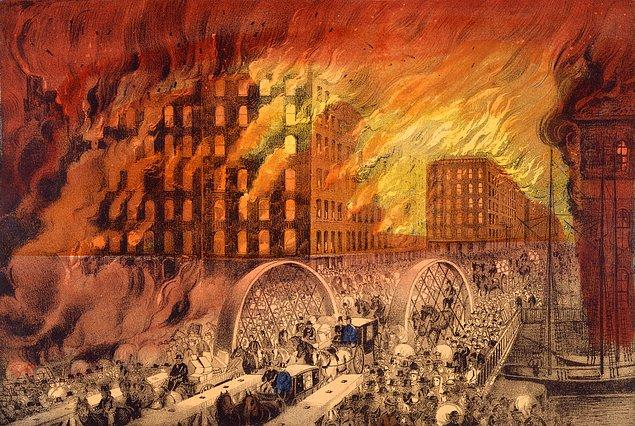 3. 1871 yılındaki Büyük Şikago Yangını bir inek yüzünden ortaya çıkmadı.