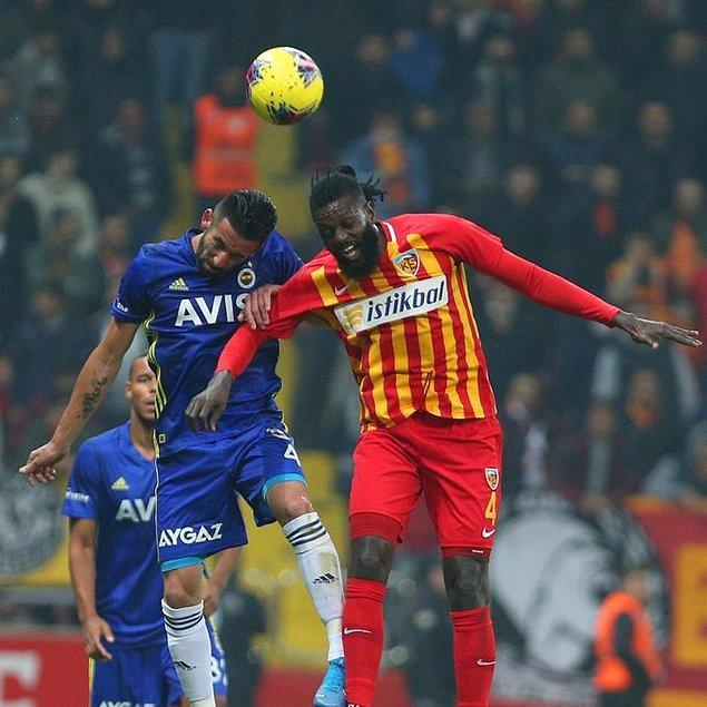 İstikbal Mobilya Kayserispor 7 puana yükselirken, Fenerbahçe ise 17 puanda kaldı.