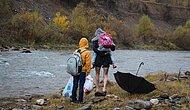 Çocuklarını Okula Sırtında Taşıyordu: Peri Çayı Üzerinde Köprü Yapılması İçin Çalışma Başlatıldı