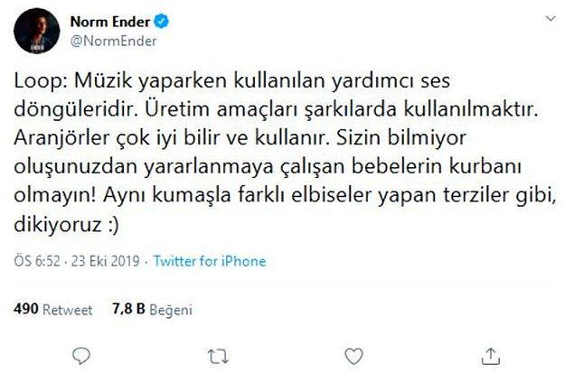 Norm Ender iddialara da çok gecikmeden bu şekilde cevap vermişti.