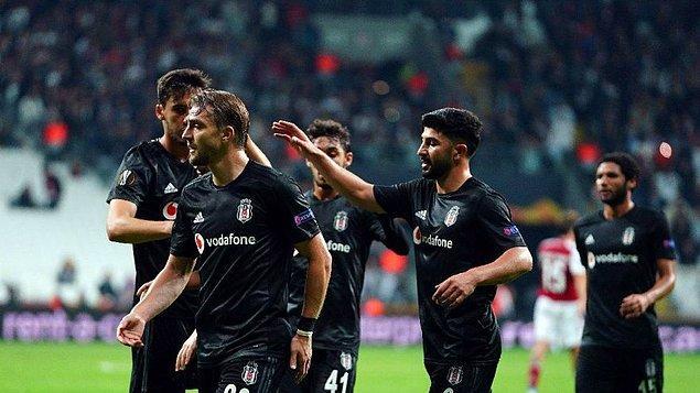 Önceki grup maçında Braga'ya 2-1 mağlup olan Kartal'ın K Grubu'nda henüz puanı yok.