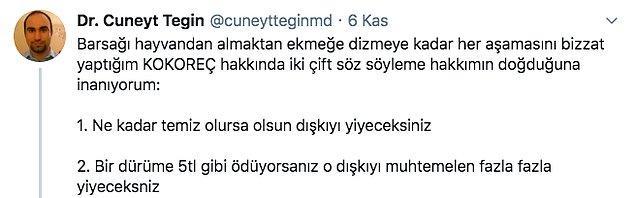 Doktor Cüneyt Tegin sözlerine şöyle başlıyor...