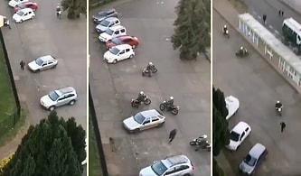 5 Polisi Etrafında Dört Döndürerek Yakalanmadan Polislerin Elinden Kaçan Eylemci
