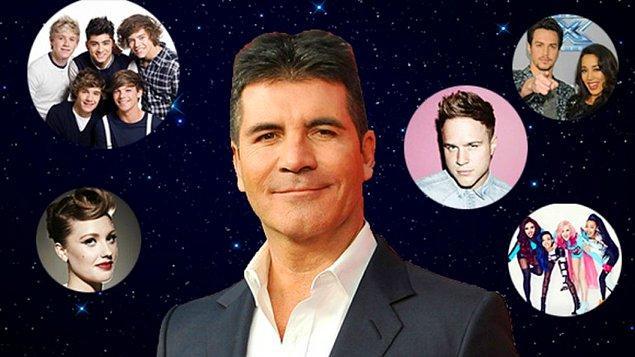 Ünlü televizyoncu, yapımcı ve menajer Simon Cowell'ı müzik ve yetenek yarışmalarından tanıyoruz.