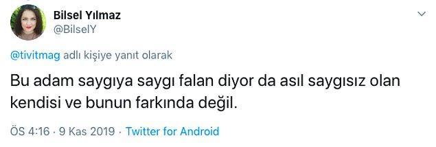 Killa Hakan'ın bu mesajına Twitter kullanıcılarından da tepki geldi.