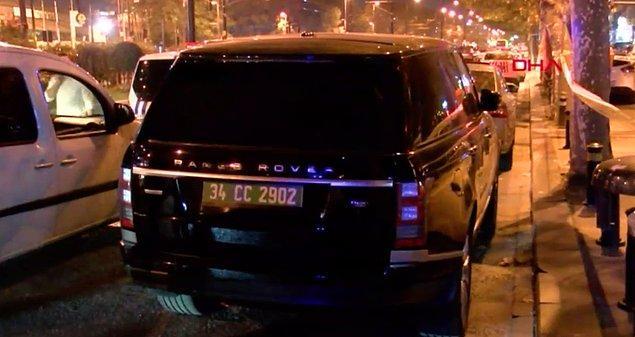 Polis, ayrıca olay mahaline yakın bir yerde bulunan lüks cipteki konsolosluk plakasının sahte olduğunu tespit etti