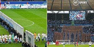 Berlin Duvarı'nın Yıkılışının 30. Yılında Hertha Berlin Maçında 'Berlin Duvarı' Canlandırıldı!