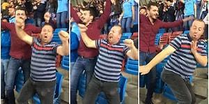Takımı Gol Atınca Kendinden Geçerek Dans Eden Çılgın Trabzonspor Taraftarı!
