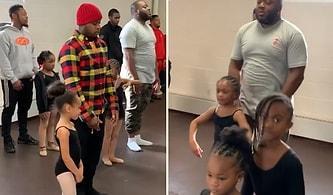 Viral Oldu: Kızlarıyla Birlikte Bale Yapan Babaların Muhteşem Görüntüleri!