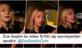 Yine Düştük mü? Ece Seçkin'in Araba Sürerken Yaptığı Rap Performansı Ortalığı Kasıp Kavurdu!