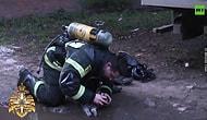 Yangından Kurtardığı Kediyi Oksijen Maskesi ile Hayata Döndüren İtfaiye Memuru!