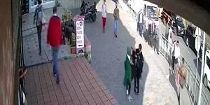 Güvenlik Kamerasına Yansıdı: Karaköy'de Yolda Yürüyen Genç Kadına Saldırı