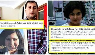 Kimi Koruyorsunuz? Rabia Naz'ın Öldüğü Gün Bütün Haber Siteleri Olayı Trafik Kazası Olarak Paylaşmış, Belediye Başkanı Kaza Demiş!