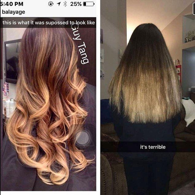 8. İstenilenle uzaktan yakından alakası olmayan bir saç daha. 🤐