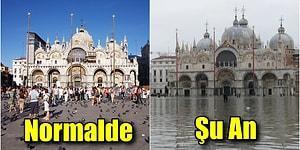 Venedik'te Yaşanan Korkunç Su Baskını Felaketini Gözler Önüne Seren 15 Görüntü
