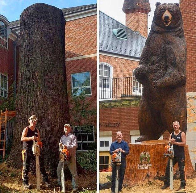 12. Paul Waclo, bu 6 metrelik Kodiak ayısını müthiş detaylarıyla ortaya çıkaran sanatçı. Sabır ve yetenek!
