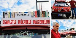 Cehaletle Mücadele Ediyor: Arabasını Kütüphaneye Çeviren Öğretmen Yusuf Günay 5 Yılda 20 Bin Kitap Dağıttı