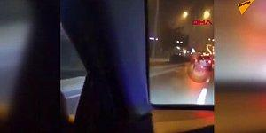 Sosyal Medyada Canlı Yayın Yaparken Zincirleme Trafik Kazasına Neden Olan Şoför!