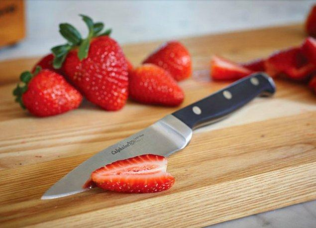 12. Yemek yapmaktan nefret etmek istemiyorsanız kör bıçaklardan uzak durun.
