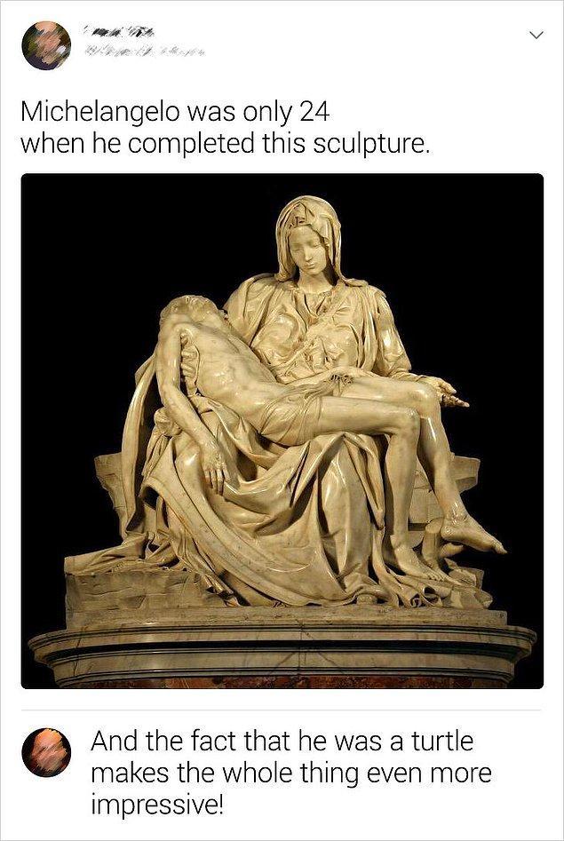 """2. """"Michelangelo bu heykeli tamamladığında henüz 24 yaşındaydı."""""""