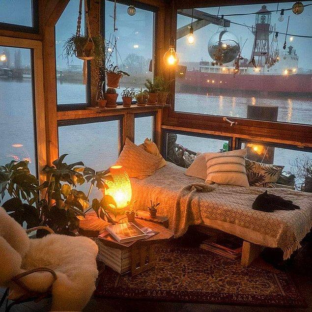 6. Kapalı havaları sevmeyenlere bile sevdirir bu oda