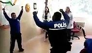 Down Sendromlu Kadir ile Karşılıklı Zeybek Oynayan Polis