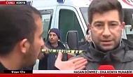 Konya'da Çöken Bina Haberi Yaparken Dayak Yiyen DHA Muhabiri