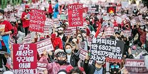 Güney Kore'de Kadınlar Eylemde: 'Kadına Yüklenen Yük Çok Fazla, İlişki, Evlilik ve Çocuk İstemiyoruz'