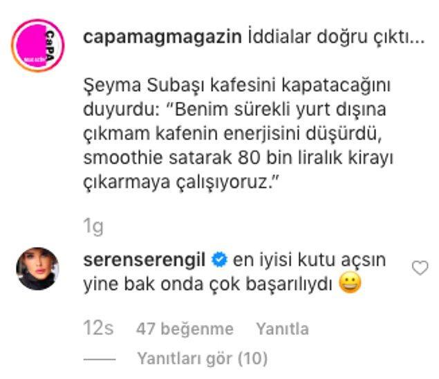 1. Seren Serengil'in Şeyma Subaşı'na yaptığı gönderme olay oldu!
