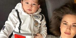 Doğuştan Yakışıklı! Fahriye Evcen, Burak Özçivit'ten Ziyade Kendisine Daha Çok Benzeyen Bebeği Karan'ın Fotoğraflarını Paylaştı