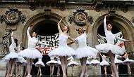 Paris Operası Dansçılarından Muazzam Grev Dansı!