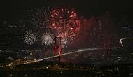 Boğaz Işıl Işıl Oldu: İstanbul'daki Yeni Yıl Kutlamalarından Muhteşem Manzaralar