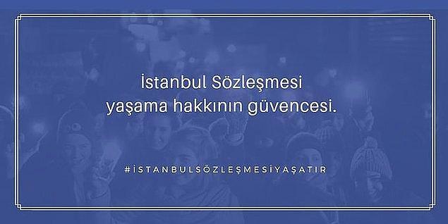 Şunu unutmamak gerekir: Kadınları öldüren ne İstanbul Sözleşmesi'dir ne uzaklaştırma kararlarıdır. Kimsenin aile kurumunun altına dinamit koyup patlatma gibi bir derdi yok. Tek amaç kadınları şiddetten ve cinayetten korumak!