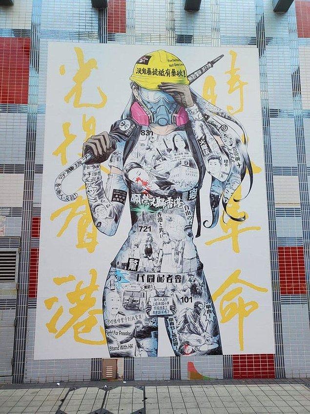 1. Hong Kong sokak sanatını bambaşka bir seviyeye çıkarmış.
