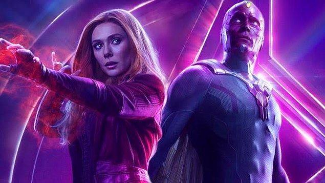 12. WandaVision'ın yayın tarihi 2021'den 2020'ye alındı. Dizi, Disney+'ta yayınlanacak.