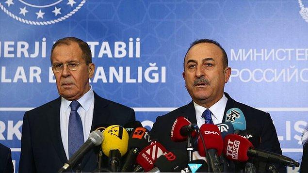 Ortak metin Çavuşoğlu ve Rus mevkidaşı Lavrov tarafından duyuruldu