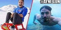 Türkiye'de 24 Saat İçinde Hem Kış Hem de Yaz Tatili Yapan YouTuber!