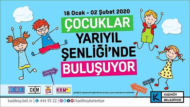 Kadıköy Belediyesi, yarıyıl tatilinde çocuklar için konserlerden oyunlara, filmlerden atölyelere birçok etkiliğin yer aldığı çocuk şenliği düzenliyor.