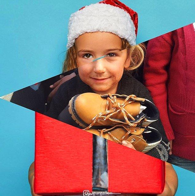 15. Yapılan bağışlarla, kışlık giyeceklerini teslim alan Suriyeli bir mülteci kız.