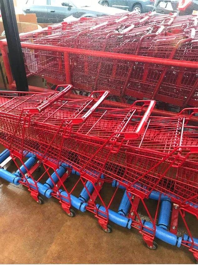 9. Çocuk boy alışveriş arabası 😍