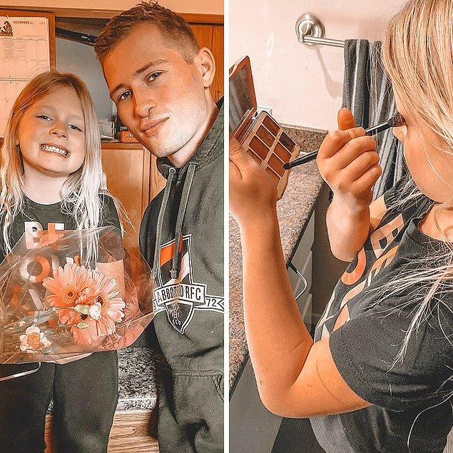 """1. """"6 yaşındaki kızım bu gece babasıyla çıkacağı randevusu için hazır. Son birkaç yıldır ayda bir kere eşim kızımızı baş başa tatlı yedikleri bir randevuya çıkarıyor. Göz farımı ödünç alıp en güzel kıyafetlerini giyerek, her seferinde babasının kapıda çiçeklerle belirmesini sabırsızlıkla bekliyor."""""""
