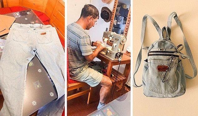 """2. """"Babamdan yeni bir çanta alabilmek için para istediğimde bana para vermek yerine eski kot pantolonunu kullanarak bana bir sırt çantası yaptı. Almak istediğim çantadan çok daha anlamlı ve daha güzel."""""""